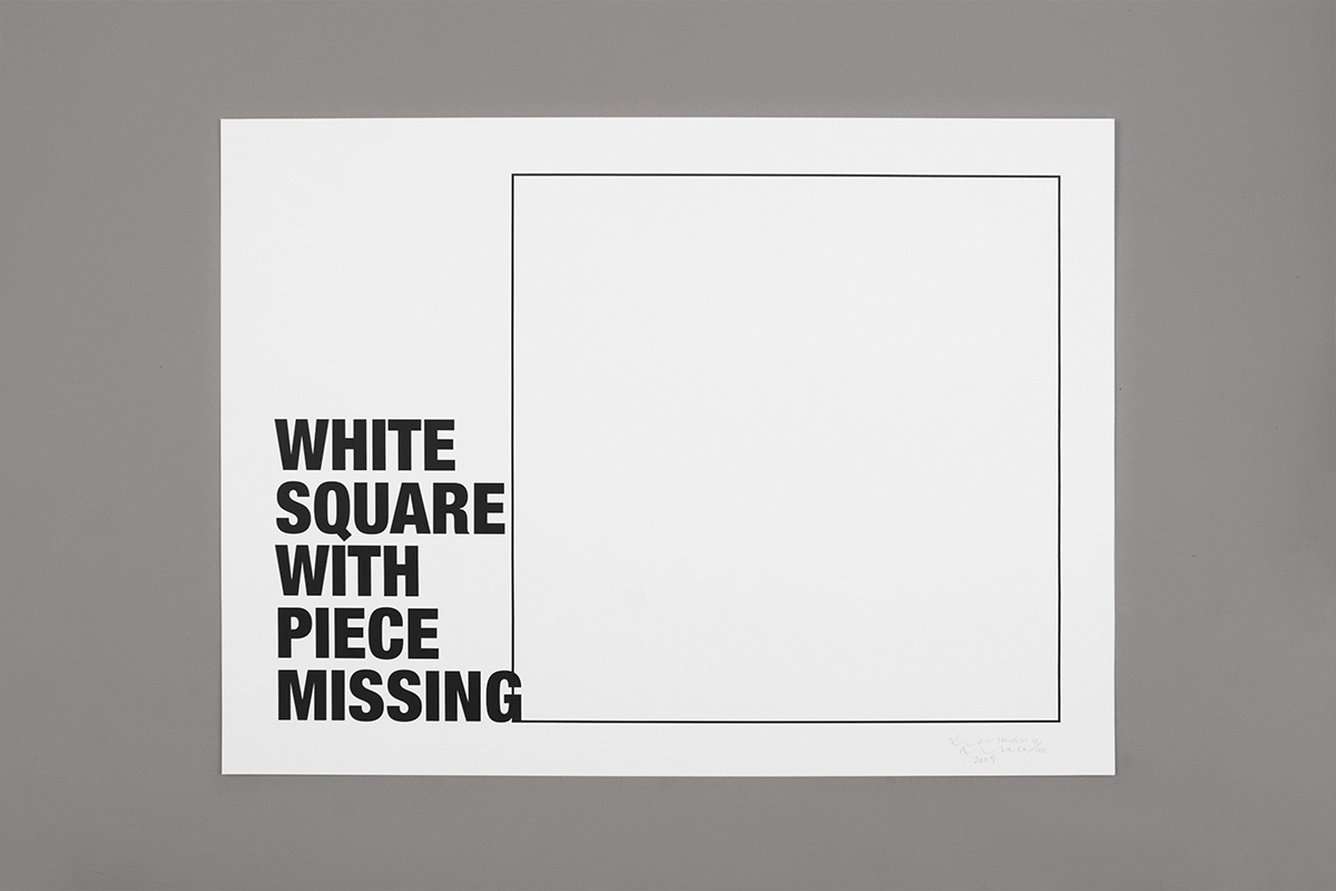Jonathan Monk: White Square With Piece Missing